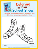 photo regarding Pete the Cat Shoes Printable named Pete the Cat Pursuits