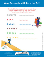 Pete the Cat: Word Scramble