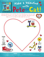 Pete the Cat Valentine's Day is Cool: Card
