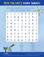 Pete the Cat Twinkle, Twinkle, Little Star: Word Search