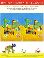 Pete the Cat and the Bedtime Blues: Spot the Difference