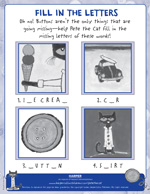 Pete the Cat and His Four Groovy Buttons: Fill in the Blank