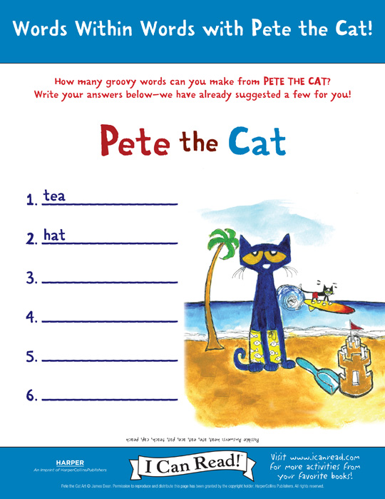 Pete the Cat: Words Within Words