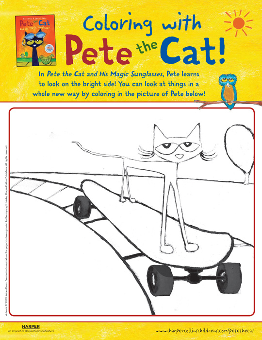 Pete the Cat and His Magic Sunglasses: Coloring | Pete the Cat ...