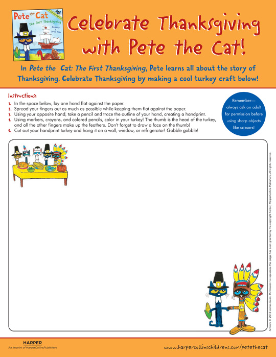 Pete the Cat The First Thanksgiving: Drawing
