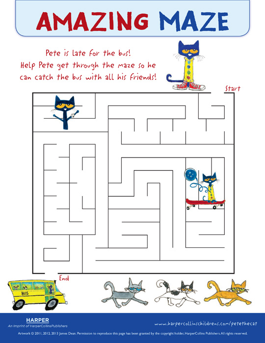 Pete the Cat The Wheels on the Bus: Maze