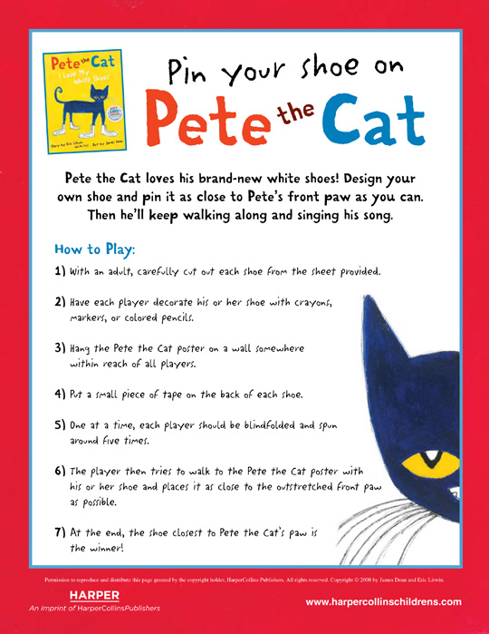 photo about Pete the Cat Shoes Printable named Pete the Cat: Pin Your Shoe upon Pete the Cat