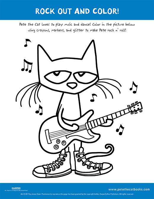 photo regarding Pete the Cat Printable named Rock Out and Shade with Pete the Cat! - Pete the Cat