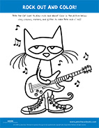 Rock Out and Color with Pete the Cat!