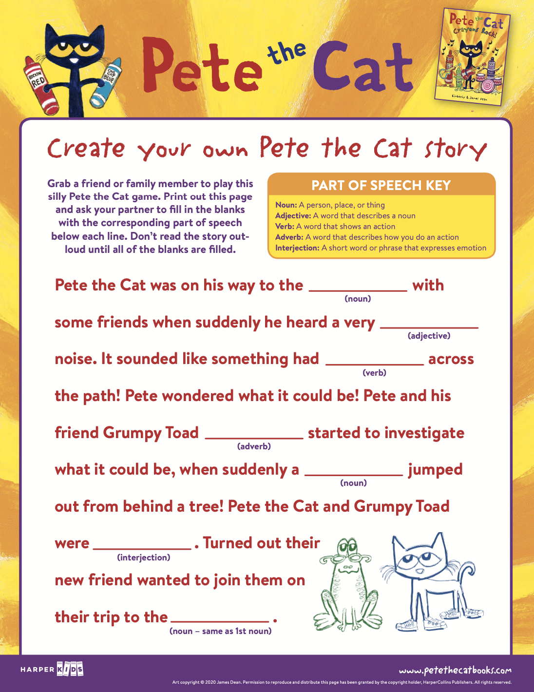 Create your own Pete the Cat story