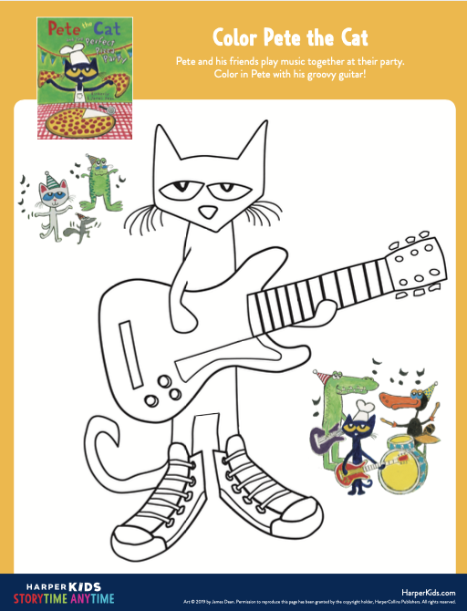 Color Pete the Cat